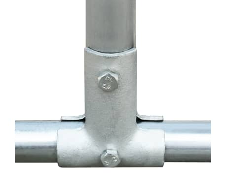 vidaXL Buitenhok voor kippen 2,75x6x2 m gegalvaniseerd staal[4/6]