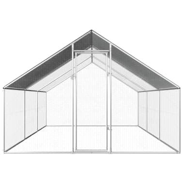 vidaXL Buitenhok voor kippen 2,75x6x2 m gegalvaniseerd staal[2/6]