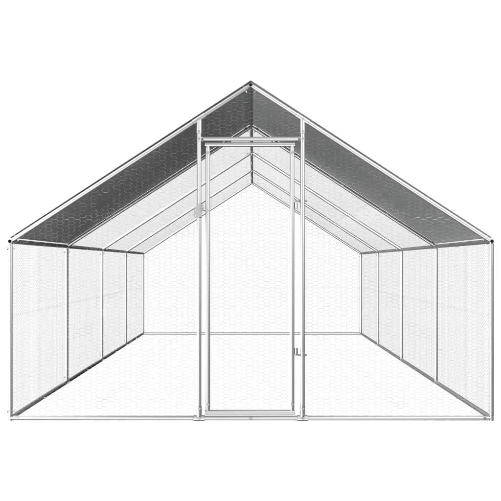 vidaXL Buitenhok voor kippen 2,75x8x2 m gegalvaniseerd staal