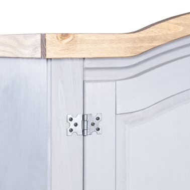 vidaXL Garde-robe Pin mexicain Gamme Corona 2 portes Gris[5/6]