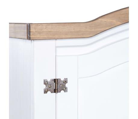 vidaXL Garde-robe Pin mexicain Gamme Corona 2 portes Blanc[5/6]