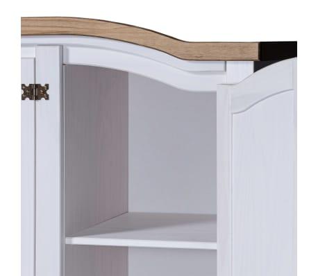 vidaXL Garde-robe Pin mexicain Gamme Corona 3 portes Blanc[4/5]