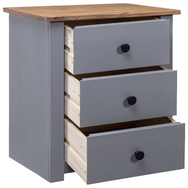 vidaXL Nachtkastje Panama Range 46x40x57 cm grenenhout grijs[2/9]