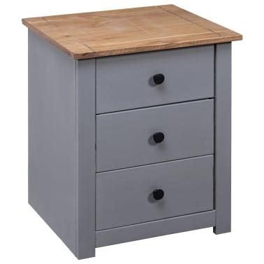 vidaXL Nachtkastje Panama Range 46x40x57 cm grenenhout grijs[4/9]