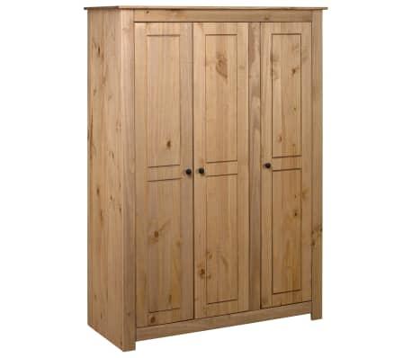 "vidaXL 3-Door Wardrobe 46.5""x19.7""x67.5"" Pine Panama Range"