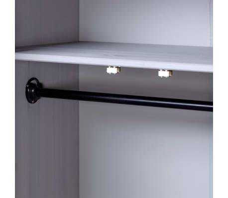 vidaXL Garde-robe 3 portes Gris 118x50x171,5 cm Pin Assortiment Panama[5/7]