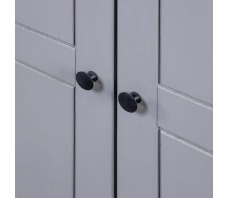 vidaXL Garde-robe 3 portes Gris 118x50x171,5 cm Pin Assortiment Panama[6/7]