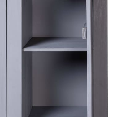 vidaXL Garde-robe 3 portes Gris 118x50x171,5 cm Pin Assortiment Panama[4/7]