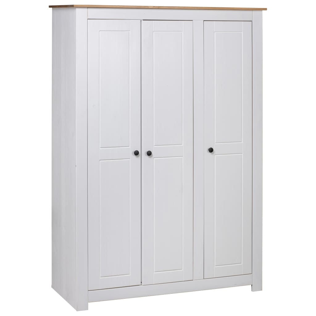 vidaXL Șifonier cu 3 uși, alb, 118 x 50 x 171,5 cm, pin gama Panama vidaxl.ro