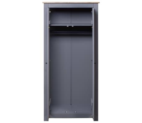 vidaXL Garde-robe Gris 80x50x171,5 cm Pin massif Assortiment Panama[3/6]