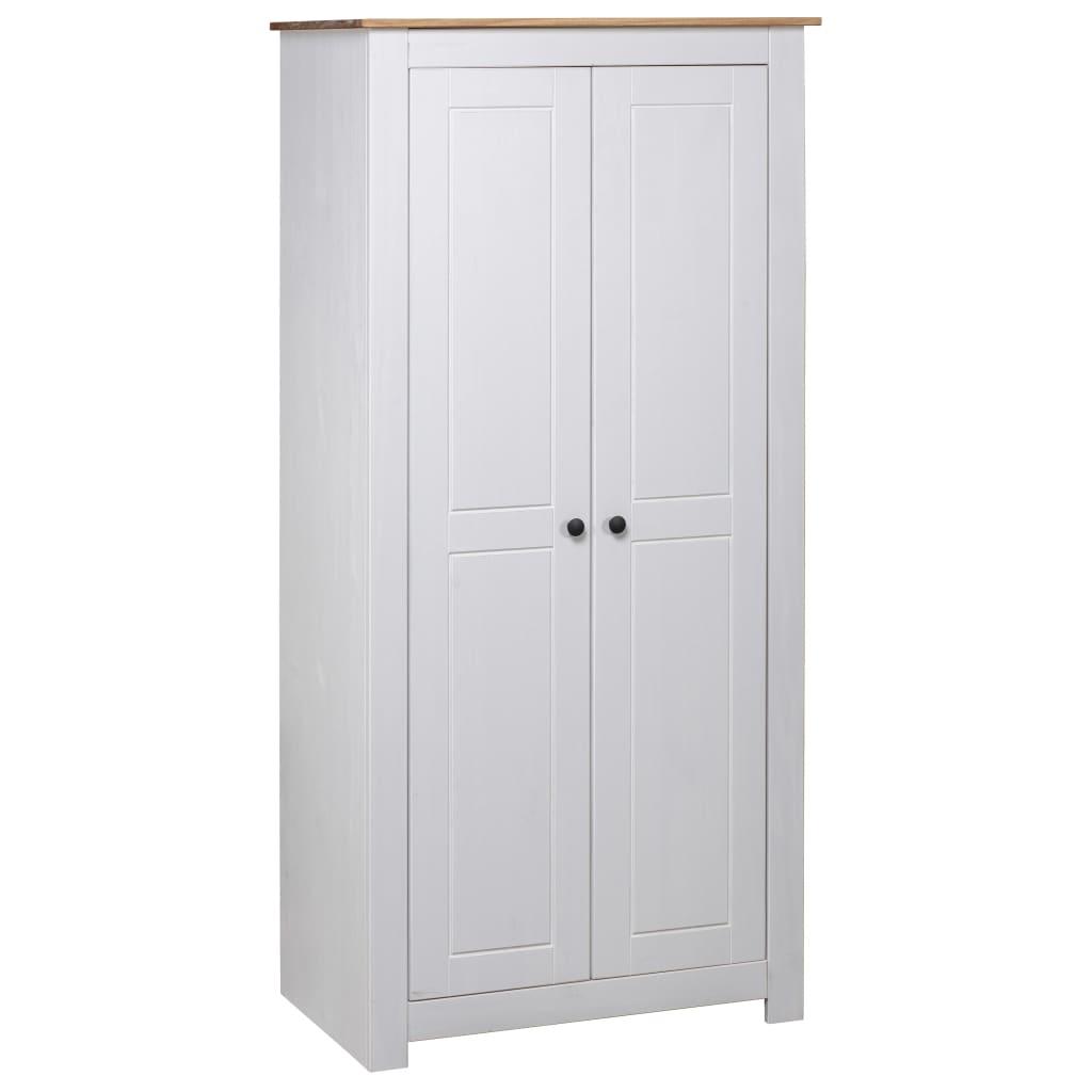 vidaXL Șifonier, alb, 80 x 50 x 171,5 cm, lemn masiv pin gama Panama vidaxl.ro