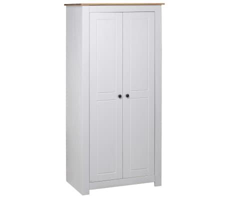 vidaXL Garde-robe Blanc 80x50x171,5 cm Pin massif Assortiment Panama
