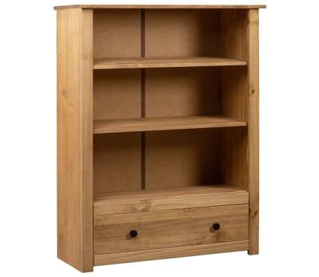 vidaXL Librería de madera maciza de pino estilo Panamá 80x35x110 cm