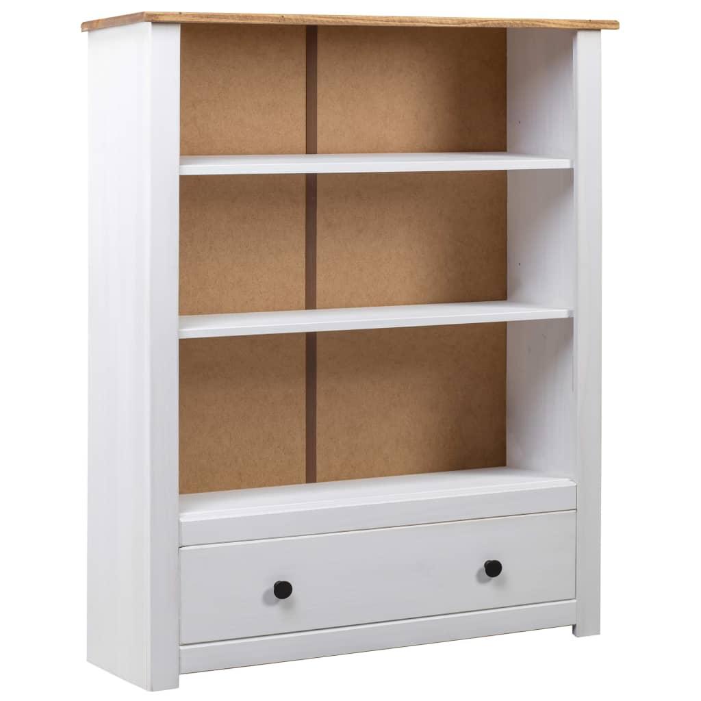 vidaXL Bibliotecă, alb, 80x35x110 cm, lemn masiv de pin, gama Panama poza vidaxl.ro