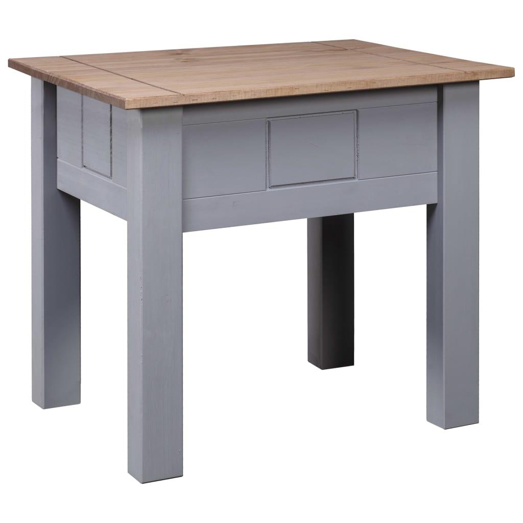 Noční stolek šedý 50,5 x 50,5 x 52,5 cm borovice řada Panama