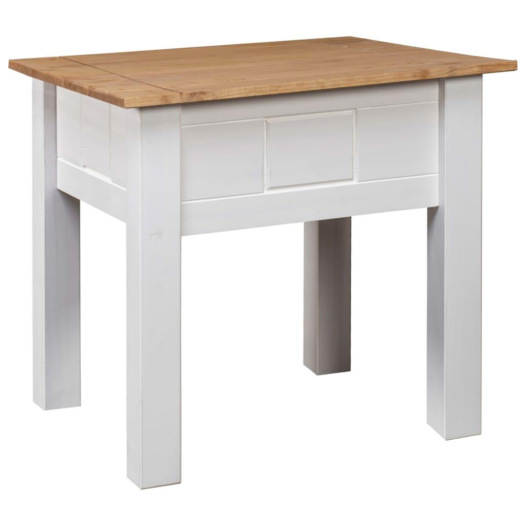 vidaXL Noční stolek bílý 50,5 x 50,5 x 52,5 cm borovice řada Panama