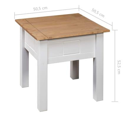 Vidaxl Table De Chevet Blanc 50 5x50 5x52 5 Cm Pin Assortiment