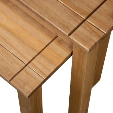 vidaXL Tables gigognes 2 pcs Bois de pin massif Assortiment Panama[5/6]