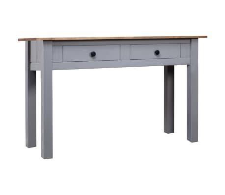 vidaXL Konzolový stolek šedý 110x40x72 cm masivní borovice řada Panama