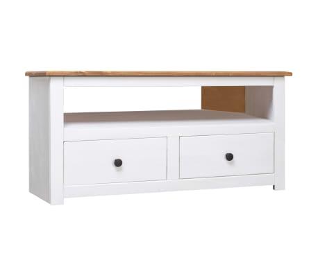 vidaXL TV-bänk hörn vit 93x55x49 cm massiv furu panama
