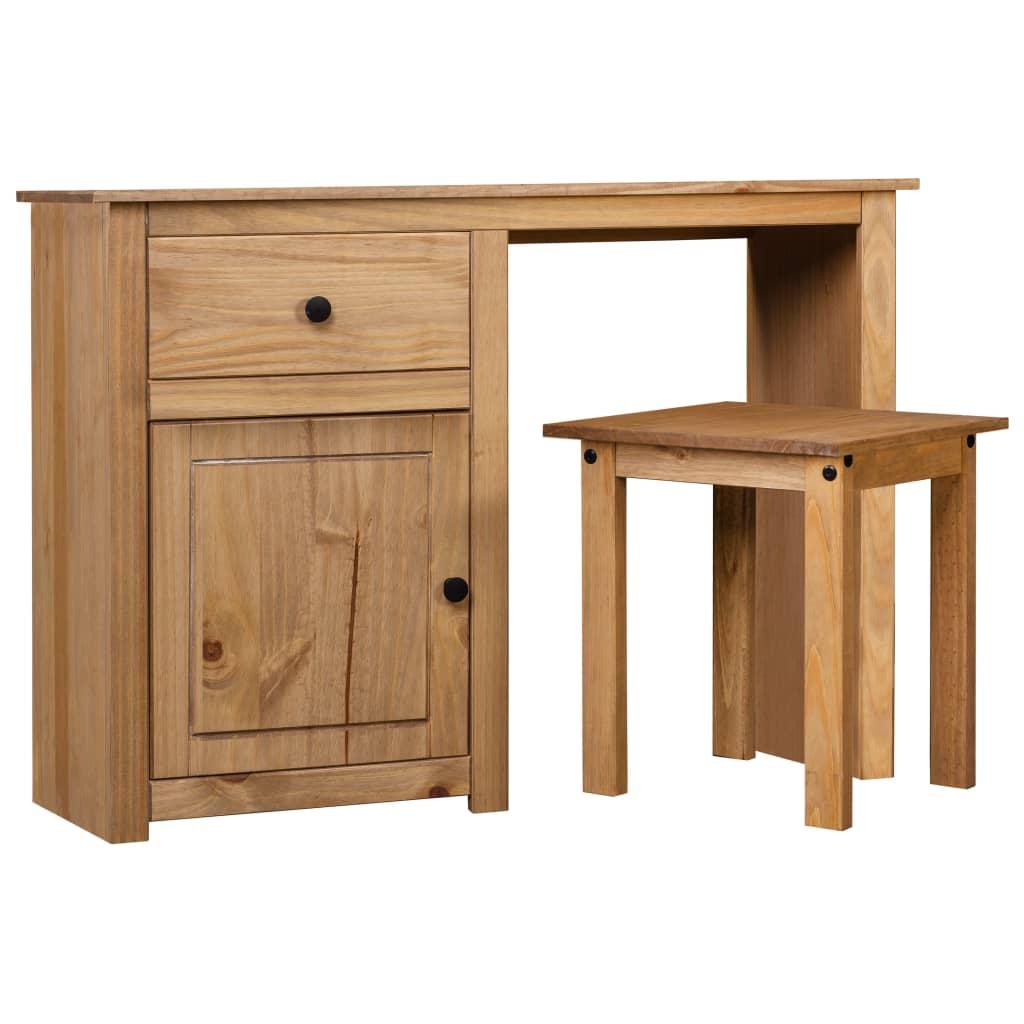 vidaXL Set masă toaletă, 2 piese, lemn masiv de pin, gama Panama poza 2021 vidaXL