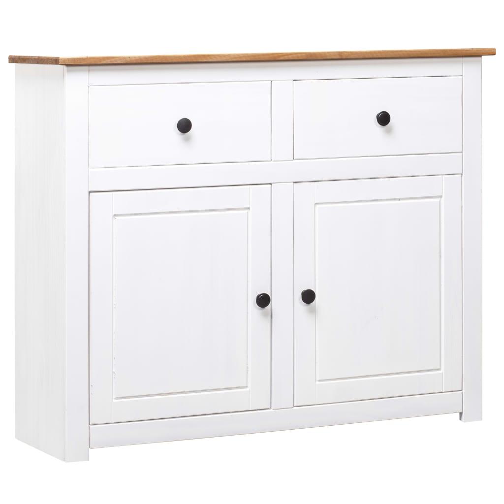 vidaXL Servantă, alb, 93x40x80 cm, lemn masiv pin, gama Panama vidaxl.ro