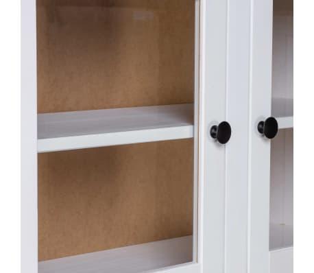 vidaXL Bufet înalt, alb, 93x40,5x180 cm, lemn masiv pin, gama Panama[5/7]