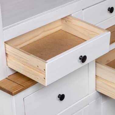 vidaXL Bufet înalt, alb, 93x40,5x180 cm, lemn masiv pin, gama Panama[6/7]