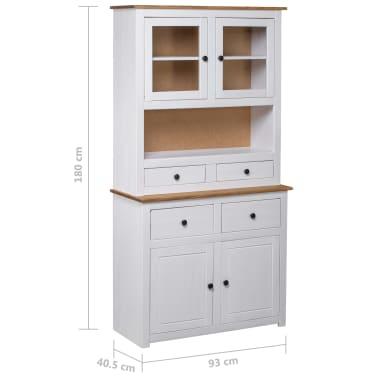 vidaXL Bufet înalt, alb, 93x40,5x180 cm, lemn masiv pin, gama Panama[7/7]