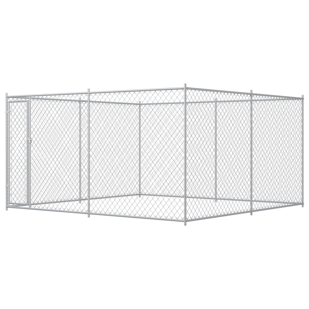 vidaXL Padoc pentru câini de exterior, 383x383x185 cm poza 2021 vidaXL