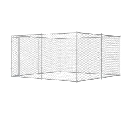 vidaXL Outdoor Dog Kennel 13.1'x13.1'x6.6'