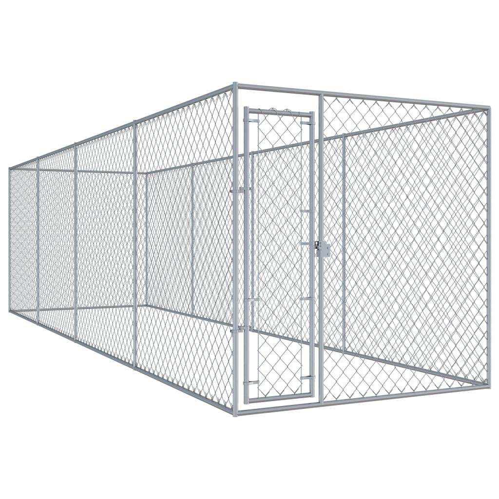 vidaXL Padoc pentru câini de exterior, 760x192x185 cm imagine vidaxl.ro
