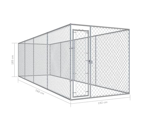 "vidaXL Outdoor Dog Kennel 299""x75.6""x78.7""[5/5]"
