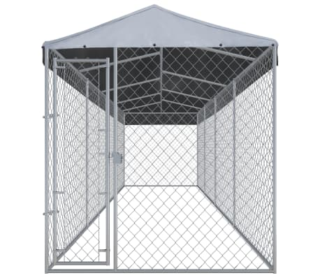 """vidaXL Outdoor Dog Kennel with Roof 299""""x75.6""""x94.5""""[2/5]"""