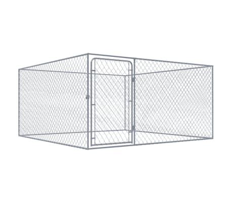 vidaXL Outdoor Dog Kennel Galvanised Steel 2x2x1 m