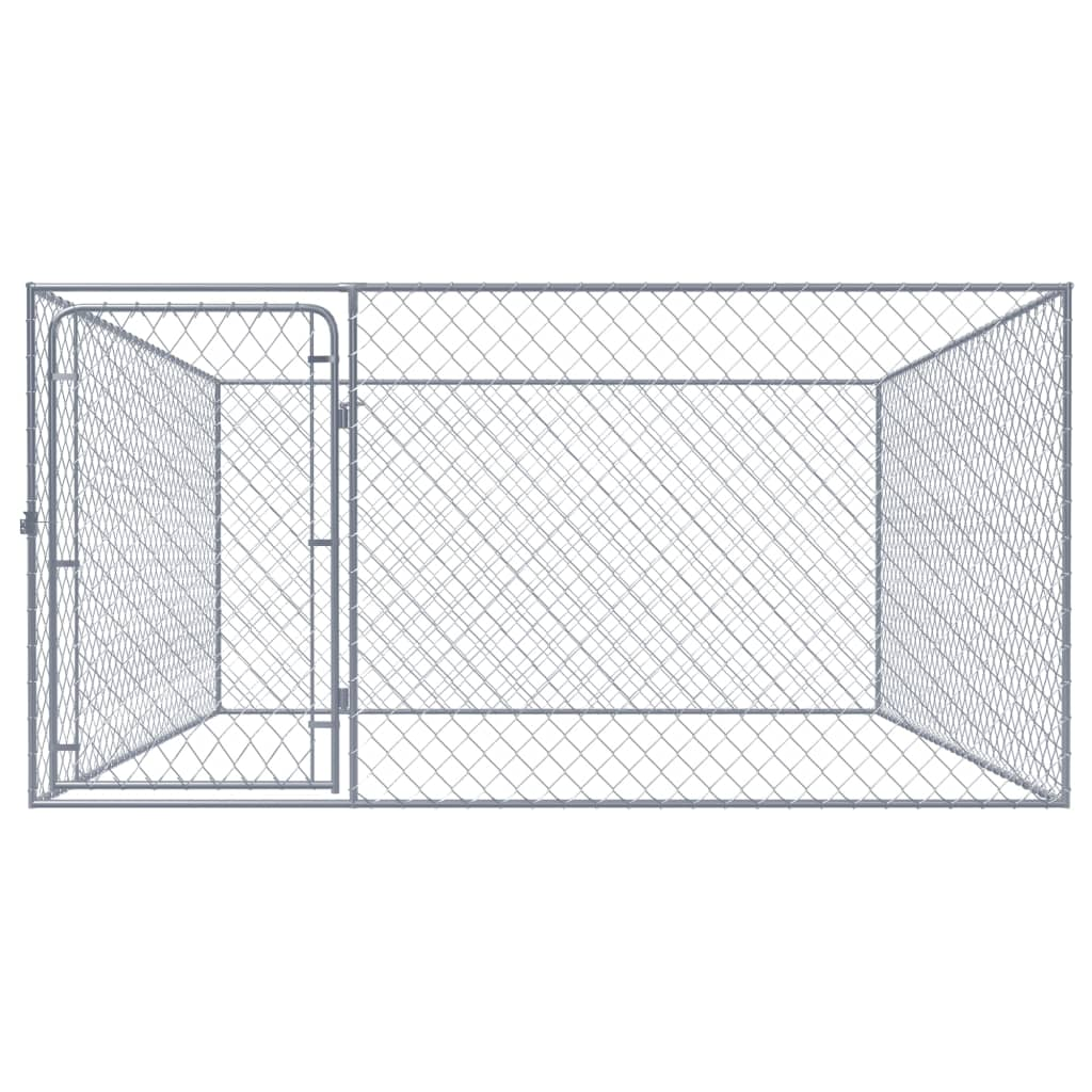vidaXL Hondenkennel voor buiten 2x2x1 m gegalvaniseerd staal