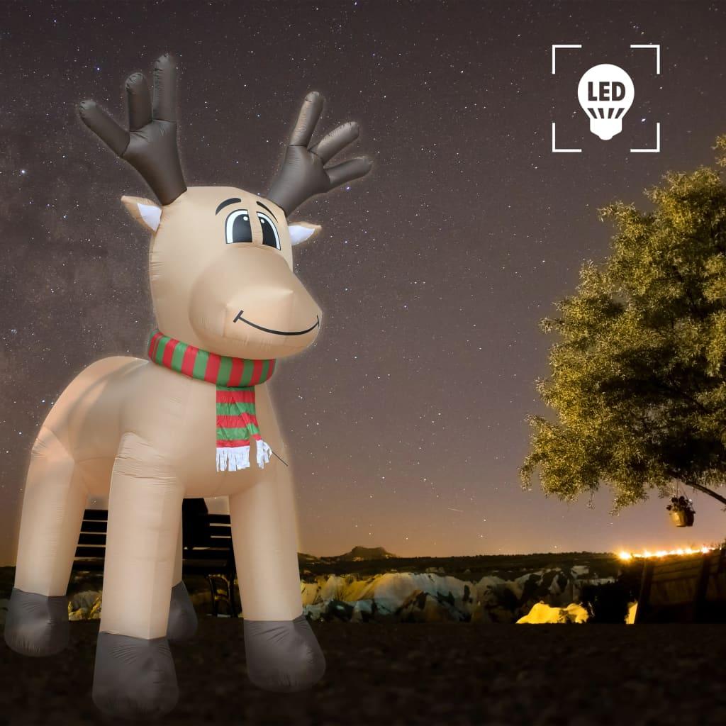 vidaXL Ren gonflabil de Crăciun, LED-uri, IP44, 500 cm, XXL poza 2021 vidaXL