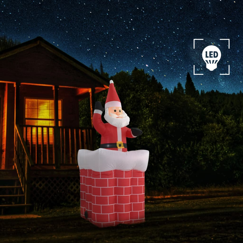 vidaXL Vánoční Santa Claus v komíně automatický pohyb LED IP44 180 cm