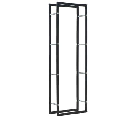 vidaXL Vedställ svart 50x20x150 cm stål[1/5]