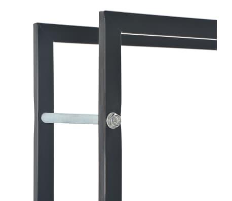vidaXL Vedställ svart 50x20x150 cm stål[5/5]