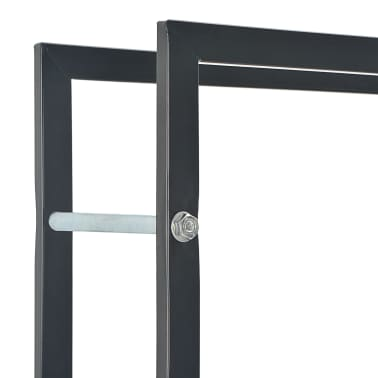 vidaXL Vedställ svart 44x20x100 cm stål[5/5]