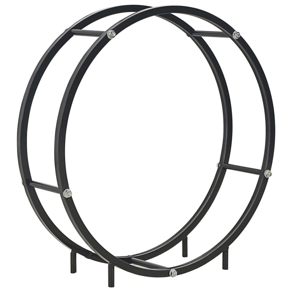vidaXL Rastel pentru lemne de foc, negru, 70x20x70 cm, oțel imagine vidaxl.ro