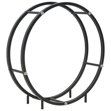 vidaXL Haardhoutrek 70x20x70 cm staal zwart[1/5]