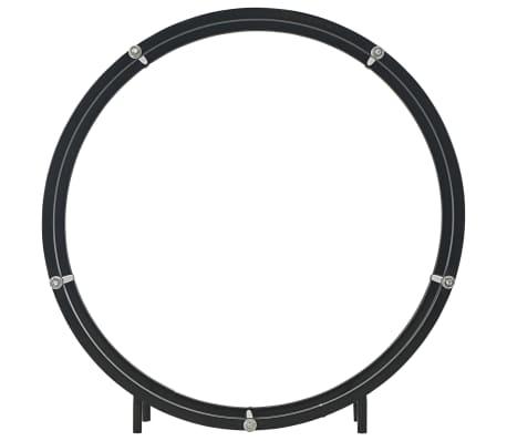 vidaXL Haardhoutrek 70x20x70 cm staal zwart[3/5]