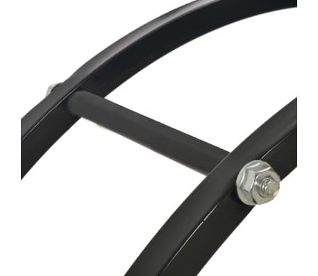 vidaXL Haardhoutrek 70x20x70 cm staal zwart[5/5]