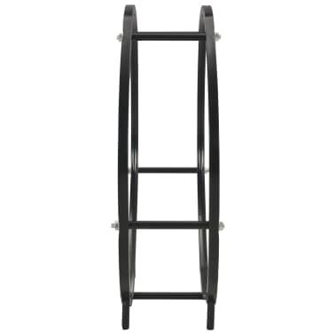 vidaXL Haardhoutrek 70x20x70 cm staal zwart[4/5]