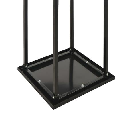 vidaXL Haardhoutrek met basis 37x37x113 cm staal zwart[5/5]