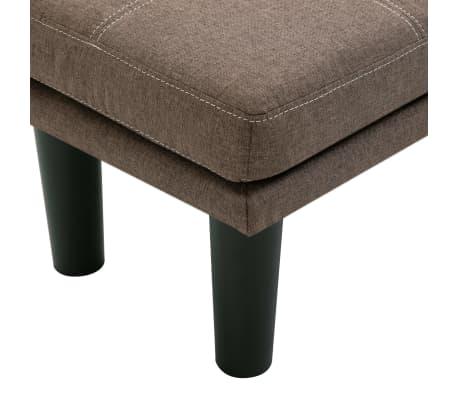 vidaXL 2-sitssoffa brun tyg[9/12]
