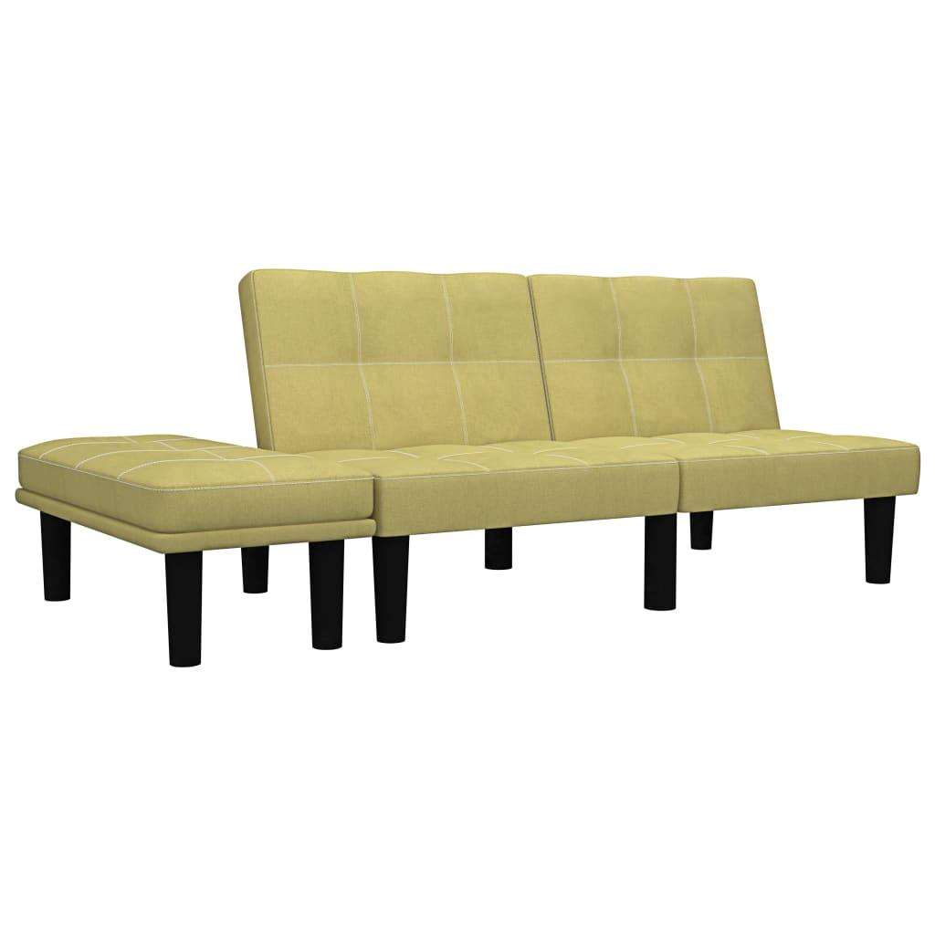 Canapé droit 2 places Tissu Pas cher Contemporain Confort Vert