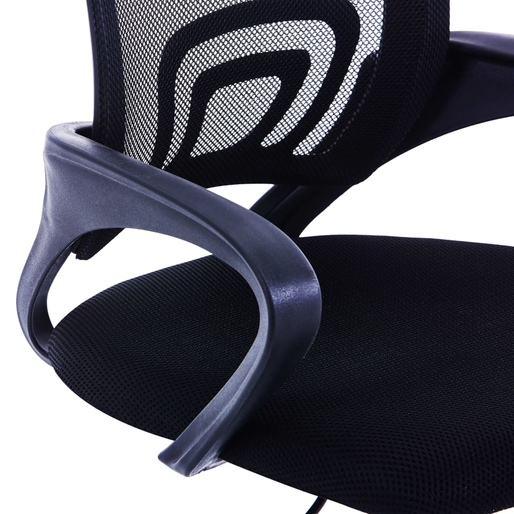 Kancelářské křeslo se síťovaným opěradlem černé textil